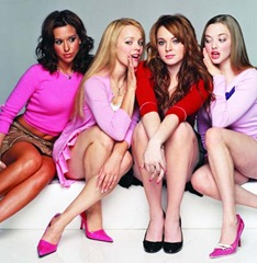 Quality: Original.  Film Title: Mean Girls/Lacey Chabert, Rachel McAdams,Amanda Seyfried, Lindsay Lohan.  Copyright: TM&Copyright ©2003 by Paramount Pictures. All Rights Reserved. For further information: please contact your local UIP Press Office.