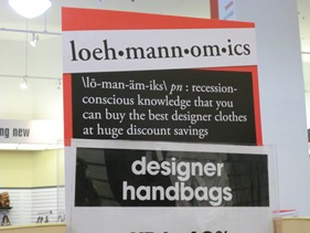 Loehmannomics