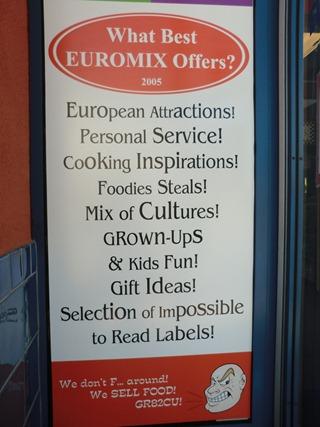 Euromix Window Sign