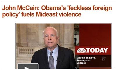 McCain Feckless
