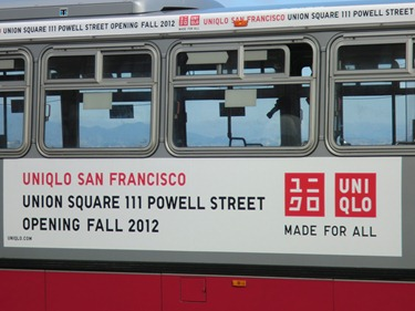Uniqlo bus ad