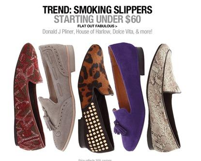 Last Call Smoking Slippers