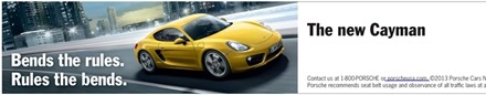 Porsche Cayman Bends the Rules