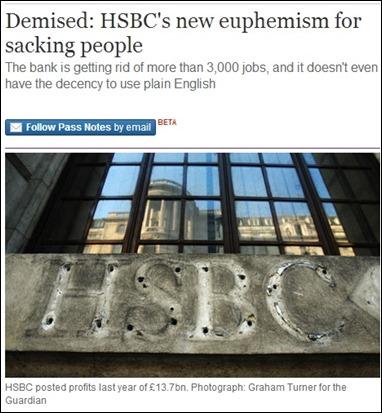 HSBC Demised