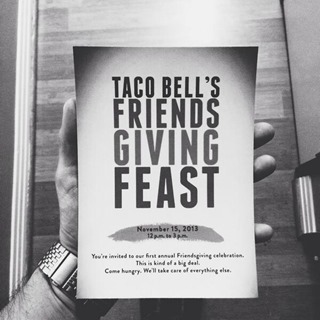 TacoBell Friendsgiving invitation
