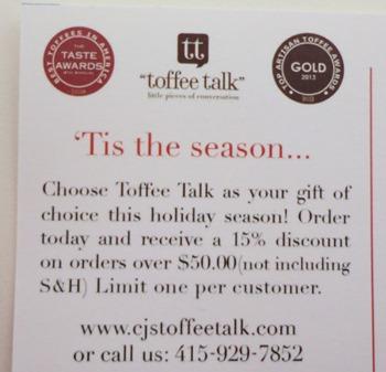 Toffee Talk Tis