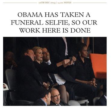 Obama funeral selfie