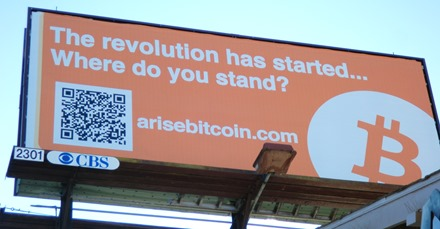 Bitcoin billboard