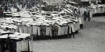 riot police testudo