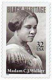 CJ Walker stamp