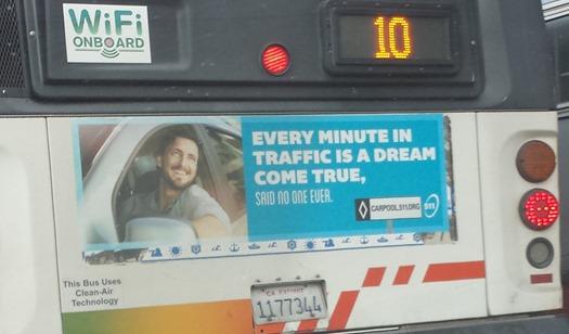 Muni carpool ad