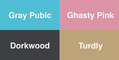 neural network color names
