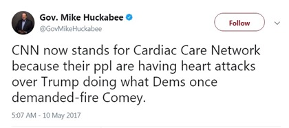 huckabee tweet cnn selfown