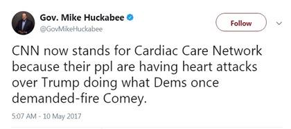 huckabee tweet cnn selfown