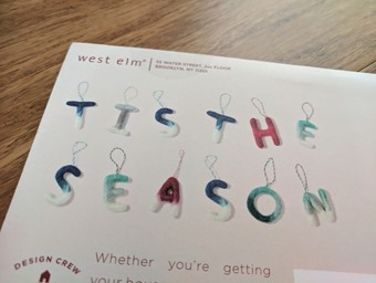 Tis season West Elm Oct 5 2017
