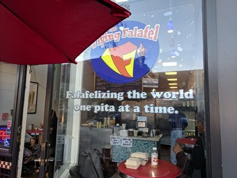 flying falafel window one pita at a time