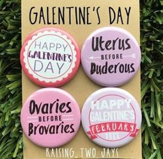 Galentine buttons etsy