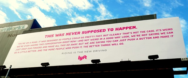 Lyft billboard closeup