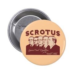 Scrotus pin Zazzle