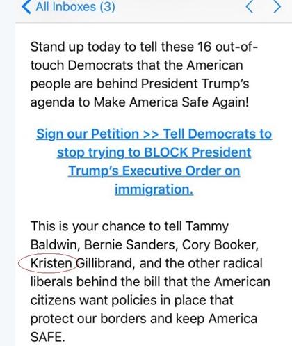 fundraising email trump misspelling
