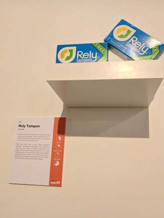 Museum Failure Rely tampons