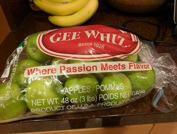 Gee Whiz apples passion