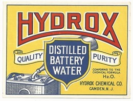 hydrox battery water