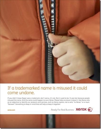 Xerox zipper ad 2011