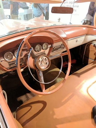 Museum Failure Edsel steering wheel