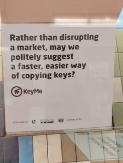 KeyMe disrupt BART
