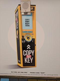 KeyMe machine BART