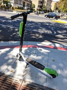 Lime scooter grand ave