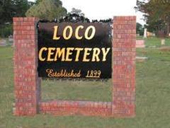 Loco cemetery Oklahoma