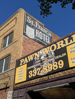 st francis hotel ghost sign reno