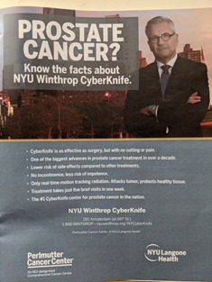 CyberKnife ad Sunday NYT magazine Oct 27 2019