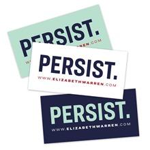 elizabeth warren persist slogan