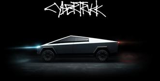 cybertruck with logo