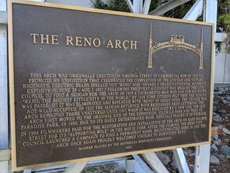 reno arch plaque