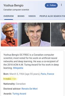 Yoshua Bengio h index