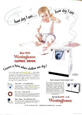 Westinghouse clothes dryer