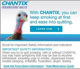 Chantix ad bird