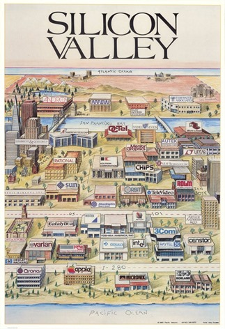 Silicon Valley map 1986