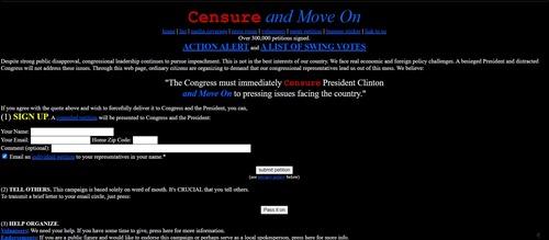 MoveOn 1998 home page