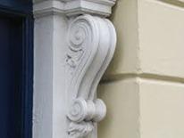 scroll pediment canterbury