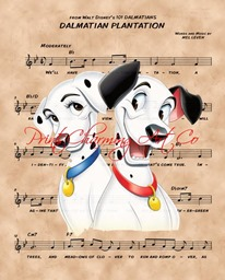 dalmatian plantation sheet music etsy