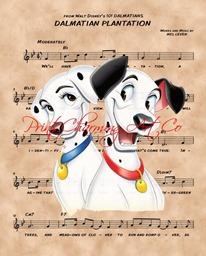dalmatian plantation sheet music etsy