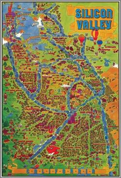 Silicon Valley map 1981 by corbin hillam via rumsey