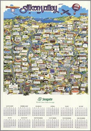 Silicon Valley Map 1991 Seagate calendar