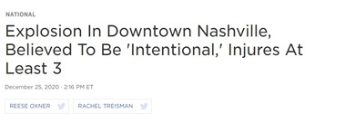 NPR Nashville explosion intentional