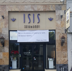 Isis spa oakland change name